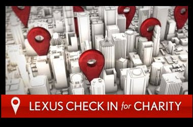 Lexus Check In for Charity December Sales Event
