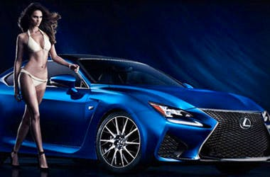 Lexus RC-F Sports Illustrated Swimsuit Edition A/R Experience
